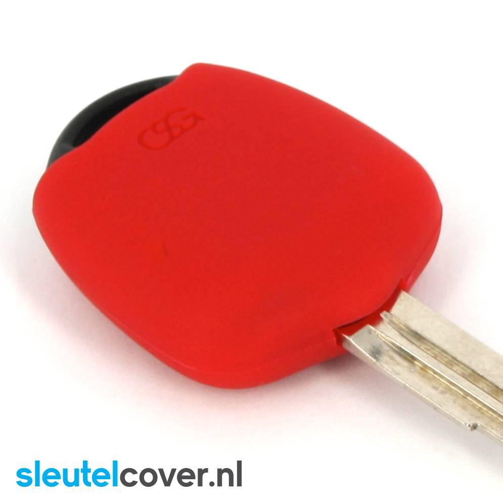 Mitsubishi SleutelCover - Rood / Silicone sleutelhoesje / beschermhoesje autosleutel