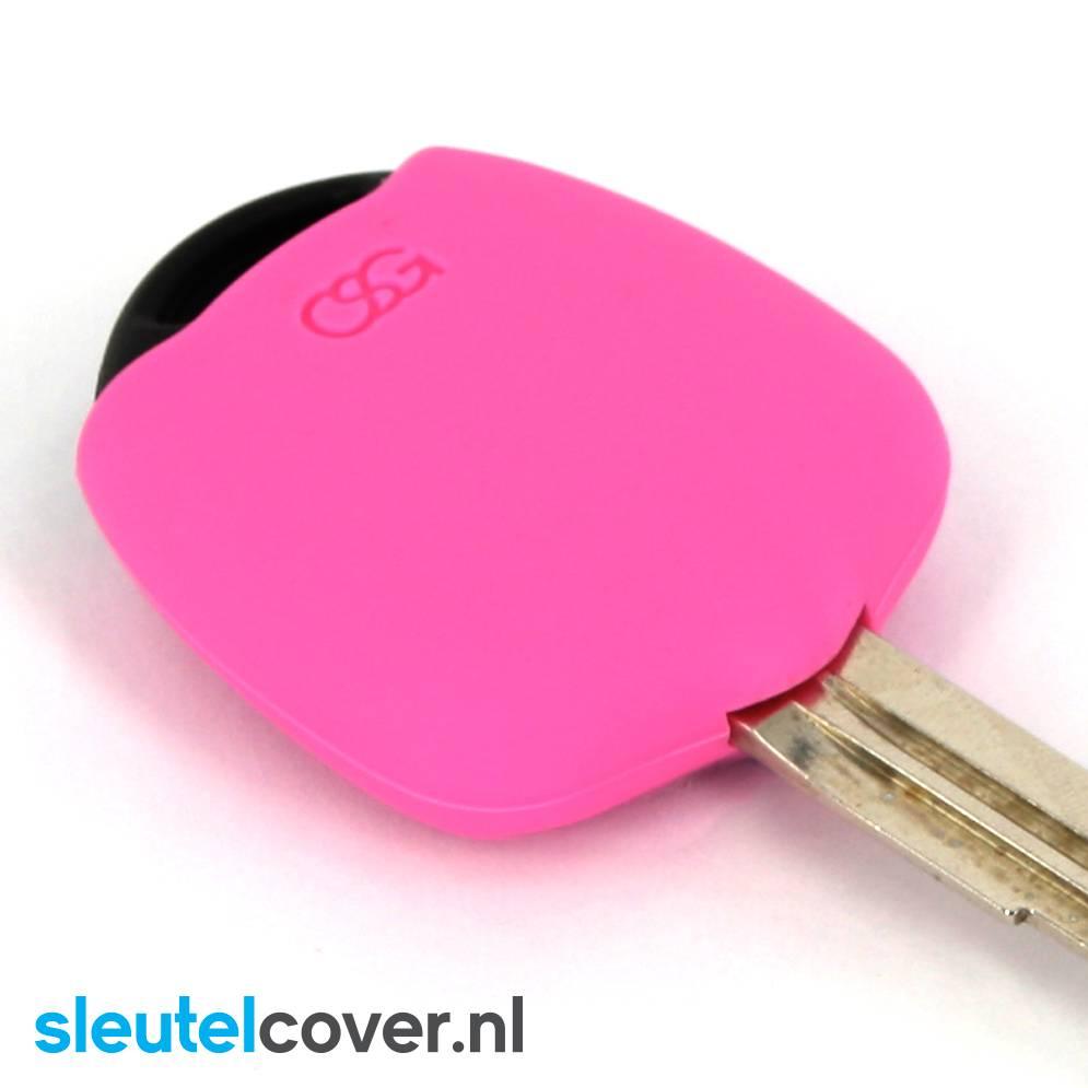 Mitsubishi SleutelCover - Roze / Silicone sleutelhoesje / beschermhoesje autosleutel