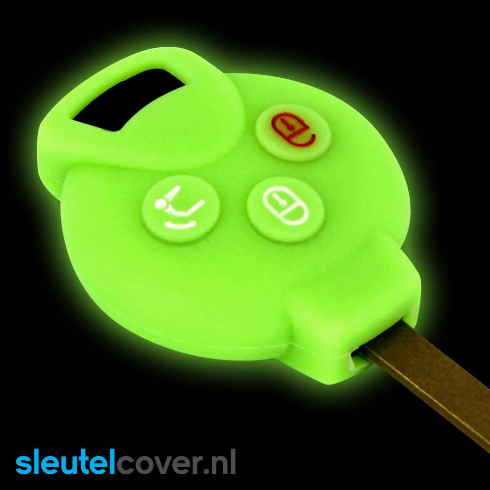 Smart SleutelCover - Glow in the dark / Silicone sleutelhoesje / beschermhoesje autosleutel