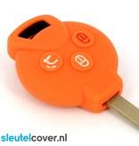 Smart SleutelCover - Oranje / Silicone sleutelhoesje / beschermhoesje autosleutel