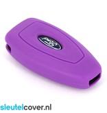 Ford SleutelCover - Paars / Silicone sleutelhoesje / beschermhoesje autosleutel