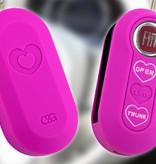 Fiat SleutelCover - Neon Roze / Silicone sleutelhoesje / beschermhoesje autosleutel