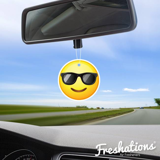 Freshations auto luchtverfrisser | Emoticon - Sunglasses | New Car