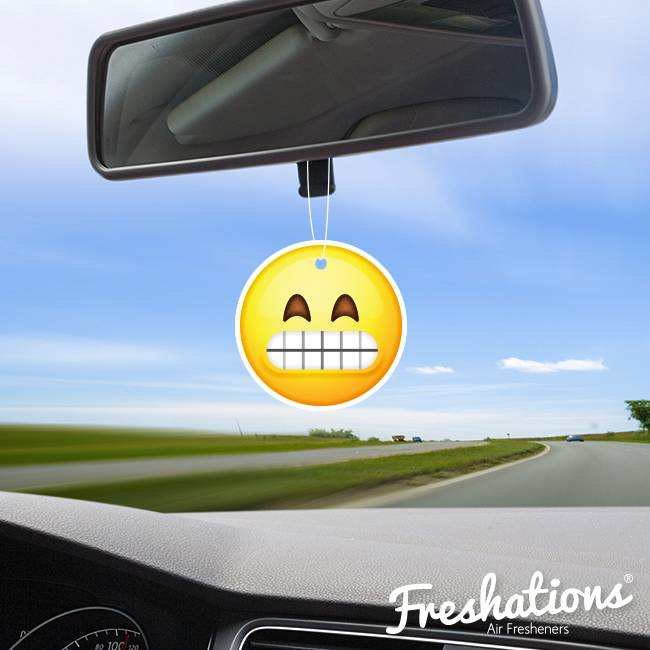 Freshations auto luchtverfrisser | Emoticon - Teeth | Black Ice