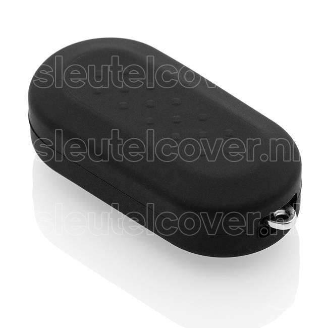 Fiat SleutelCover - Zwart / Siliconen sleutel hoesje / beschermhoesje autosleutel / Geschikt voor Fiat Punto, Fiat Ducato, Fiat 500, Fiat Panda