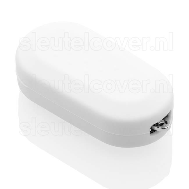 Fiat SleutelCover - Wit / Siliconen sleutel hoesje / beschermhoesje autosleutel / Geschikt voor Fiat Punto, Fiat Ducato, Fiat 500, Fiat Panda