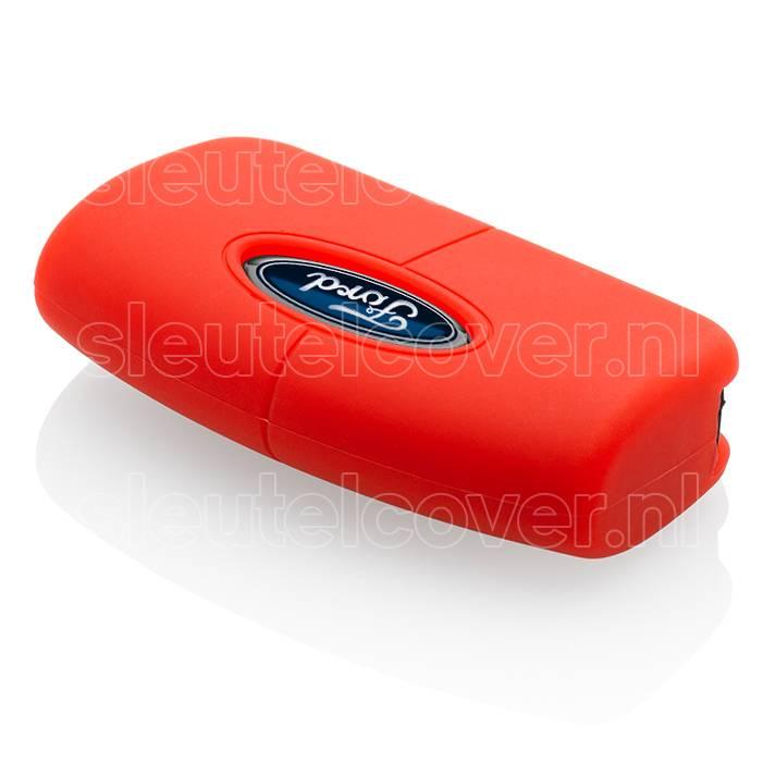 Ford SleutelCover - Rood / Silicone sleutelhoesje / beschermhoesje autosleutel