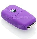 Volkswagen SleutelCover - Paars / Silicone sleutelhoesje / beschermhoesje autosleutel
