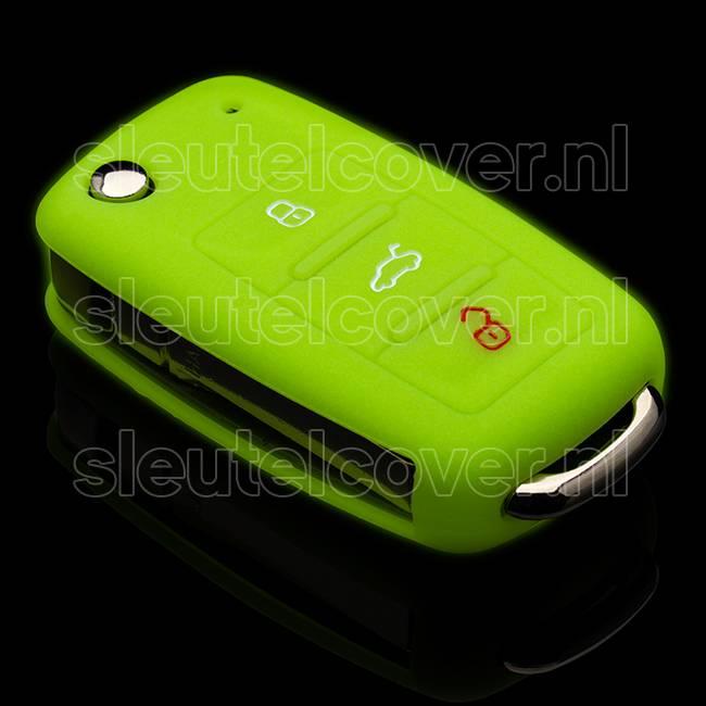 Seat SleutelCover - Glow in the dark / Silicone sleutelhoesje / beschermhoesje autosleutel