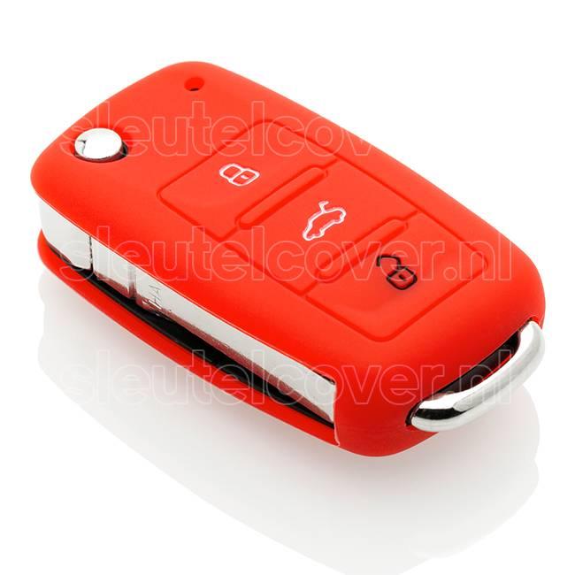 Volkswagen SleutelCover - Rood / Silicone sleutelhoesje / beschermhoesje autosleutel