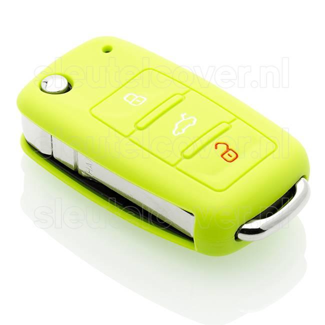 Seat SleutelCover - Lime groen / Silicone sleutelhoesje / beschermhoesje autosleutel