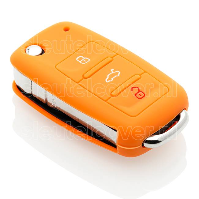 Volkswagen SleutelCover - Oranje / Silicone sleutelhoesje / beschermhoesje autosleutel