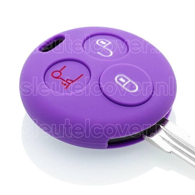 Smart SleutelCover - Paars / Silicone sleutelhoesje / beschermhoesje autosleutel