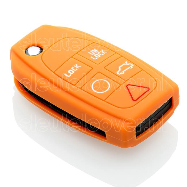 Volvo SleutelCover - Oranje / Silicone sleutelhoesje / beschermhoesje autosleutel