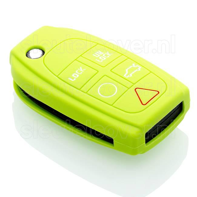 Volvo SleutelCover - Lime groen / Silicone sleutelhoesje / beschermhoesje autosleutel