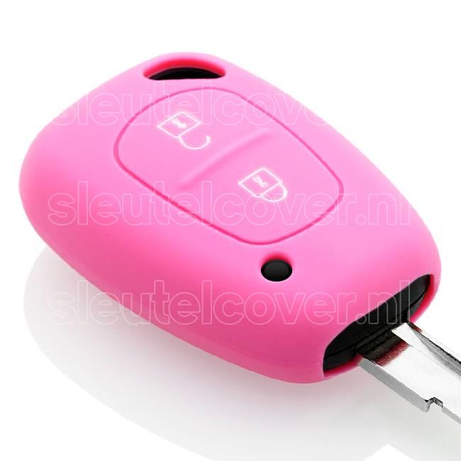 Nissan SleutelCover - Roze / Silicone sleutelhoesje / beschermhoesje autosleutel
