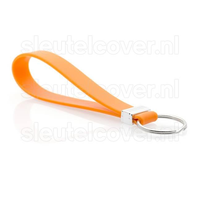 Sleutelhanger auto - Silicone - Oranje