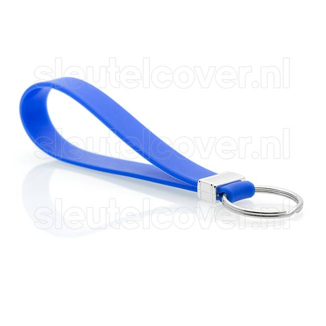 Sleutelhanger auto - Silicone - Blauw