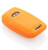Kia SleutelCover - Oranje / Silicone sleutelhoesje / beschermhoesje autosleutel