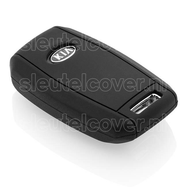 Kia SleutelCover - Zwart / Silicone sleutelhoesje / beschermhoesje autosleutel