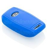 Kia SleutelCover - Blauw / Silicone sleutelhoesje / beschermhoesje autosleutel