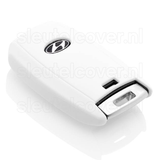 Hyundai SleutelCover - Wit / Silicone sleutelhoesje / beschermhoesje autosleutel