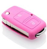 Volkswagen SleutelCover - Roze / Silicone sleutelhoesje / beschermhoesje autosleutel