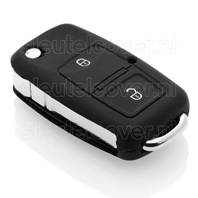 Skoda SleutelCover - Zwart / Silicone sleutelhoesje / beschermhoesje autosleutel