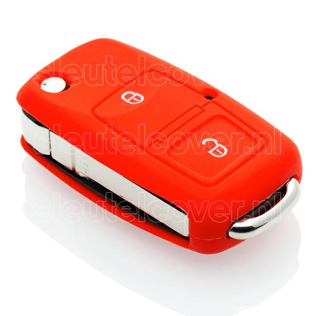 Audi SleutelCover - Rood / Silicone sleutelhoesje / beschermhoesje autosleutel