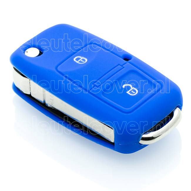 Audi SleutelCover - Blauw / Silicone sleutelhoesje / beschermhoesje autosleutel