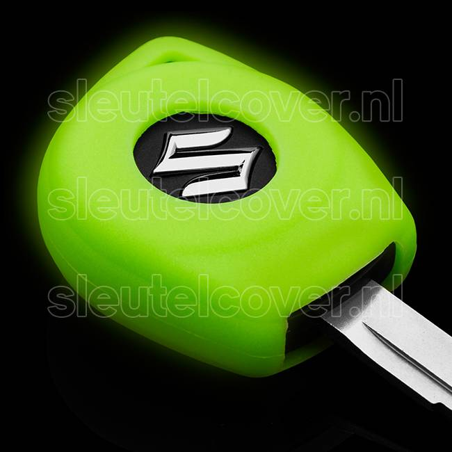 Suzuki SleutelCover - Glow in the dark / Silicone sleutelhoesje / beschermhoesje autosleutel