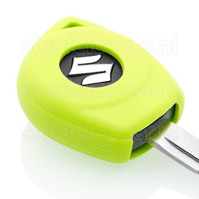 Suzuki SleutelCover - Lime groen / Silicone sleutelhoesje / beschermhoesje autosleutel