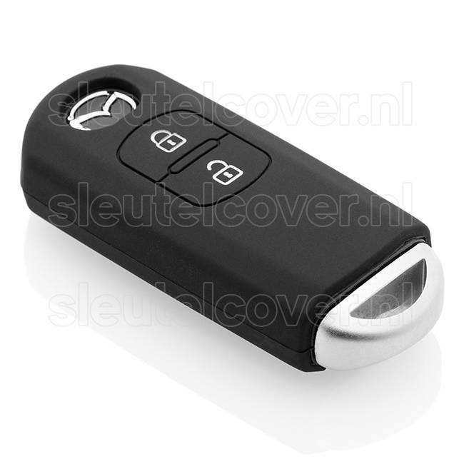 Mazda SleutelCover - Zwart / Silicone sleutelhoesje / beschermhoesje autosleutel
