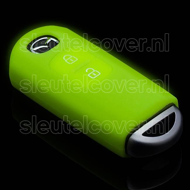 Mazda SleutelCover - Glow in the dark / Silicone sleutelhoesje / beschermhoesje autosleutel