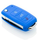 Audi SleutelCover - Blauw / Siliconen sleutelhoesje / beschermhoesje autosleutel