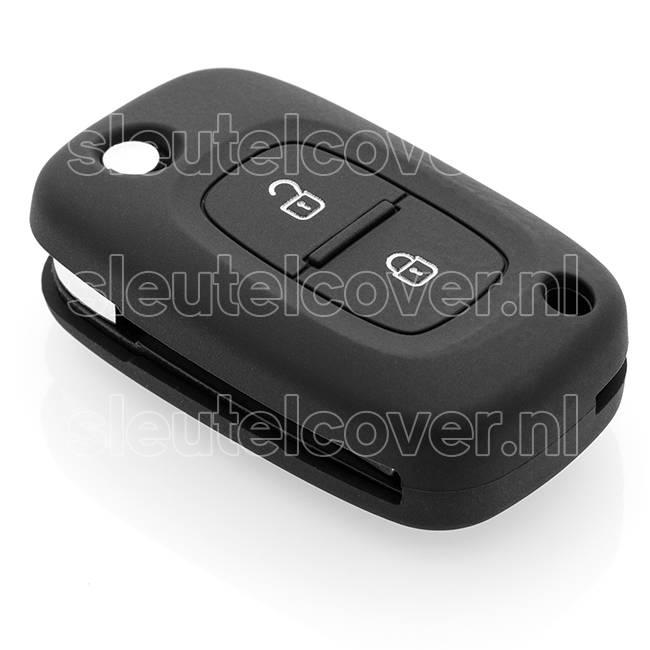 Mercedes SleutelCover - Zwart / Silicone sleutelhoesje / beschermhoesje autosleutel