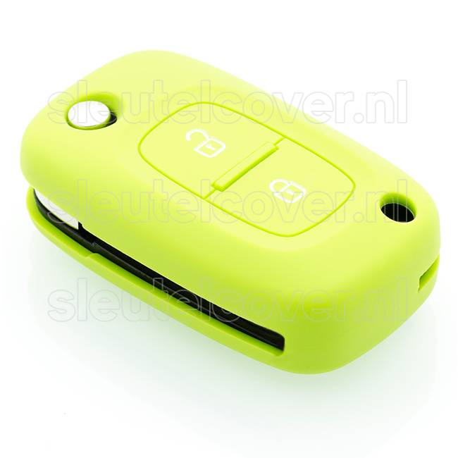 Mercedes SleutelCover - Lime groen / Silicone sleutelhoesje / beschermhoesje autosleutel
