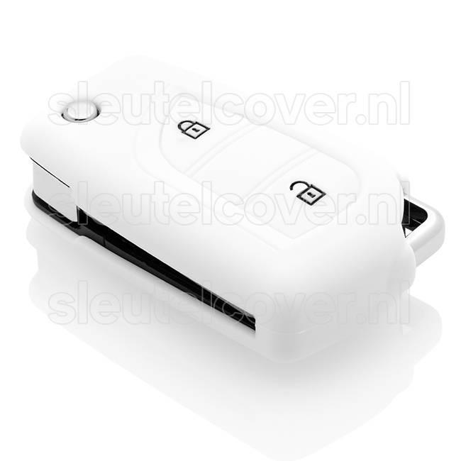 Toyota SleutelCover - Wit / Silicone sleutelhoesje / beschermhoesje autosleutel