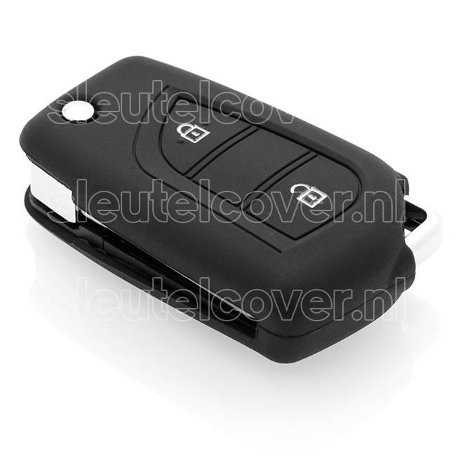 Toyota SleutelCover - Zwart / Silicone sleutelhoesje / beschermhoesje autosleutel