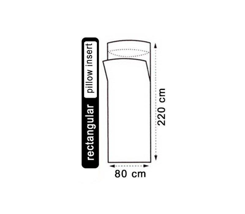 LOWLAND OUTDOOR® Hüttenschlafsack - 100% Seide - rechteckig - 220x80 cm - 100gr