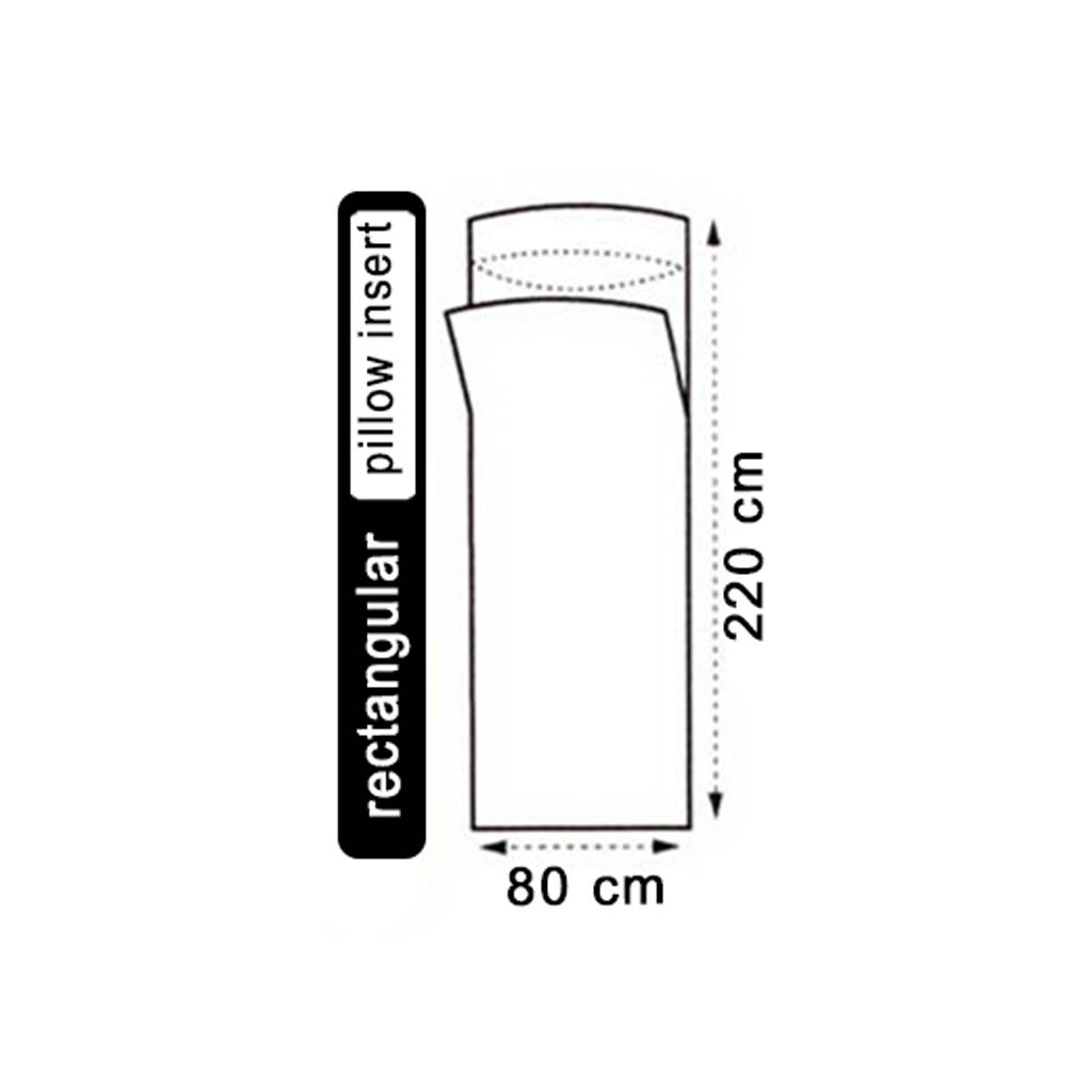 Lowland Outdoor LOWLAND OUTDOOR® Hüttenschlafsack - 100% Seide - rechteckig - 220x80 cm - 100gr