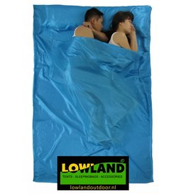 Lowland Outdoor Sleeping bag liner - Superlight - 2 pers - 220x160 cm - 600gr