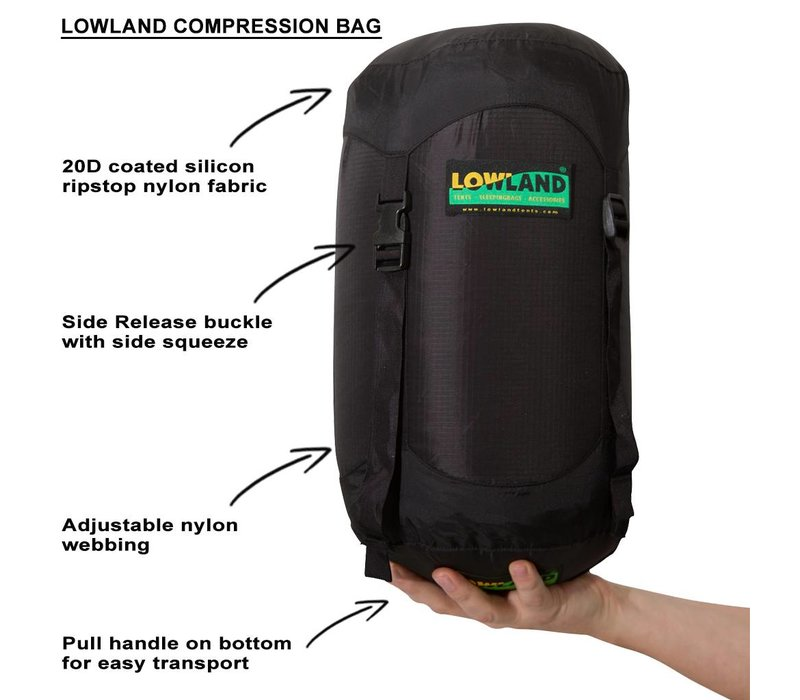 LOWLAND OUTDOOR® Compression Bag - 15 Liter - 85 Grams