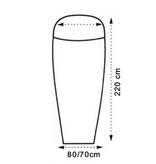 Lowland Outdoor LOWLAND OUTDOOR® Sacco lenzulo - Superlight - mummy - 220x80/70 cm - 280g
