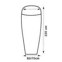 LOWLAND OUTDOOR® Sleeping bag liner - Superlight - mummy model - 220x80/70 cm - 280gr