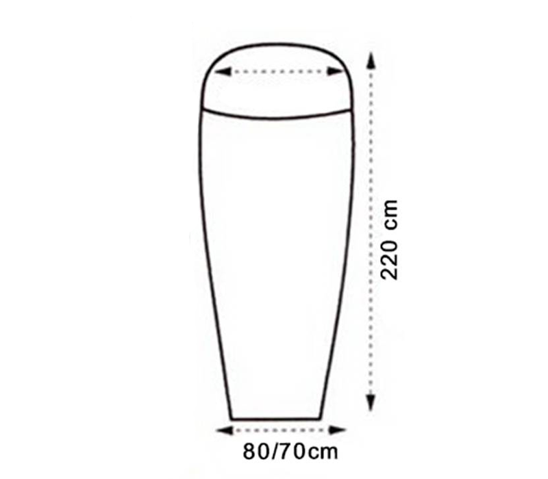 LOWLAND OUTDOOR® Sábana saco - Superlight - mummy - 220x80/70 cm - 280gr
