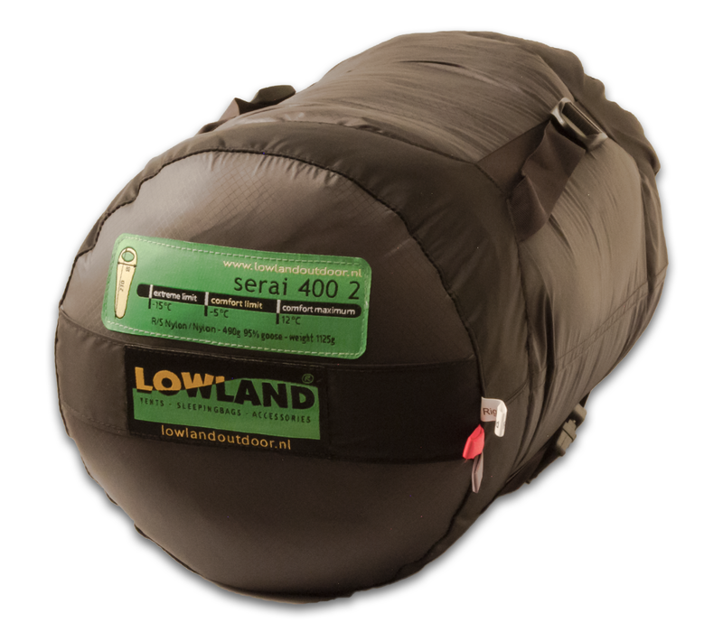 LOWLAND OUTDOOR® Serai 400 2 - 1125 gr - 230x80 cm -5°C