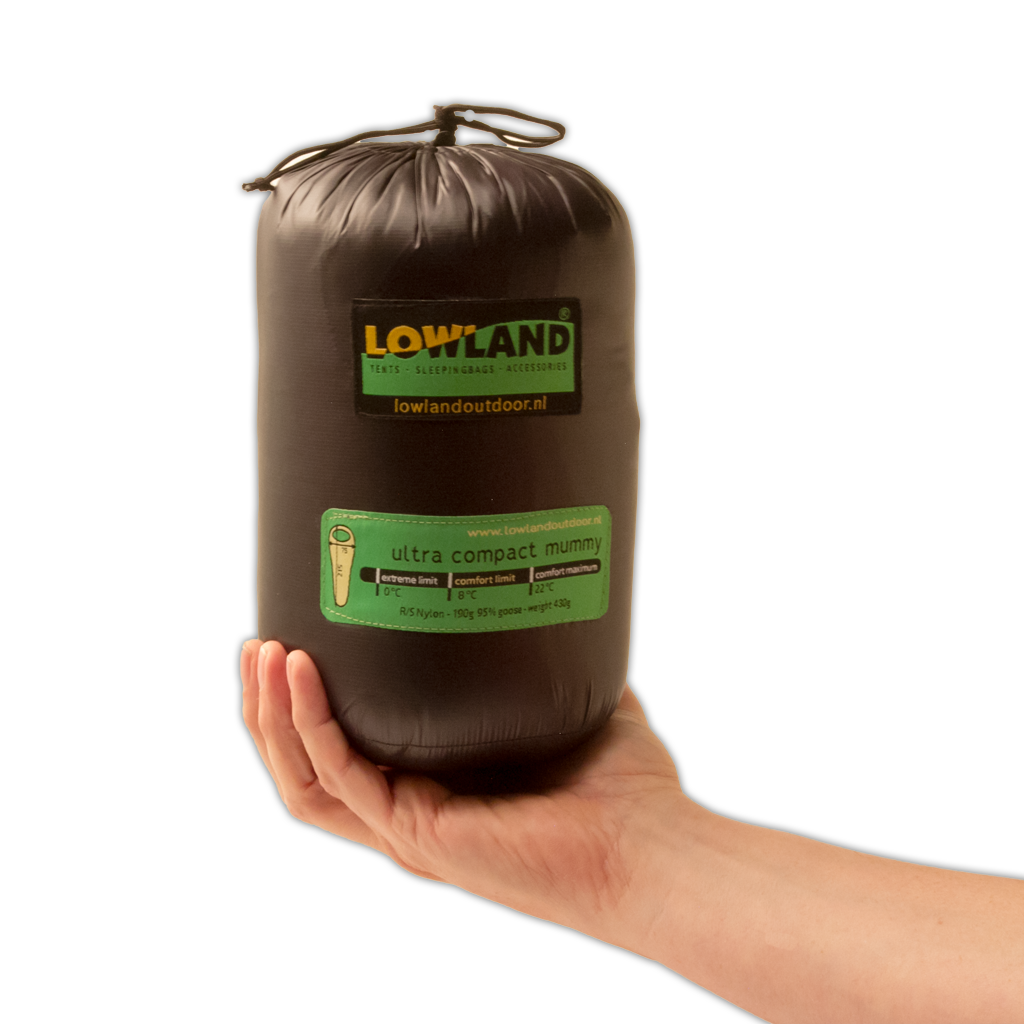 Lowland Outdoor LOWLAND OUTDOOR® Ultra compact mummy - 430 gr - 215x75 cm  +8°C