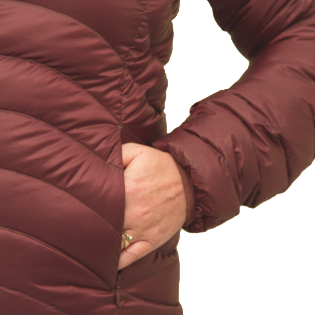 Lowland Outdoor LOWLAND OUTDOOR®  OPTIMUM Down jacket - Woman - Hoody - Plum