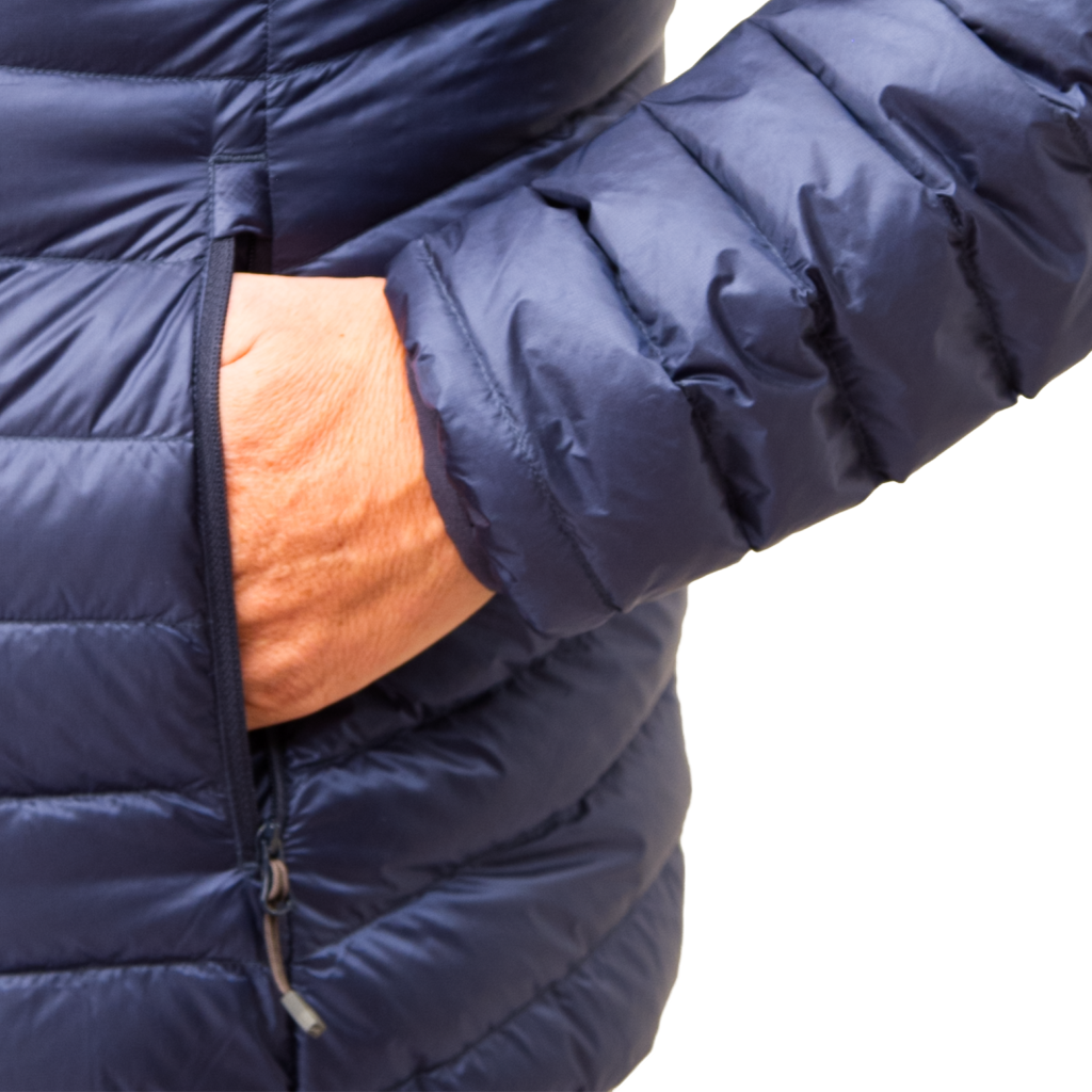 Lowland Outdoor LOWLAND OUTDOOR®  OPTIMUM Down jacket - Men - Hoody - Navy